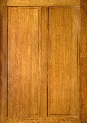Eikenhout imitatie met spiegels