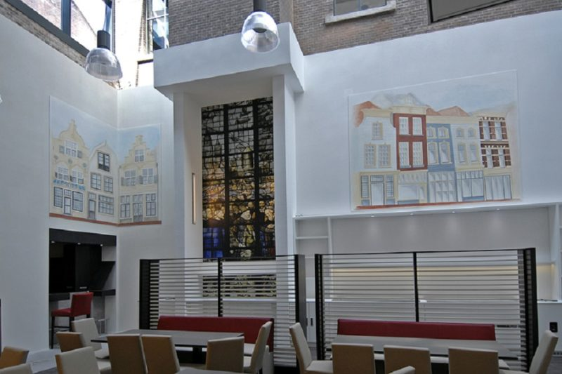 Muurschildering Best Western Hotel Gouda
