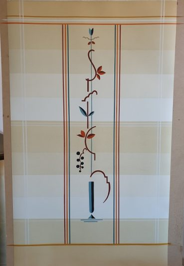 Decoratieve wandafwerking met tamponeer techniek