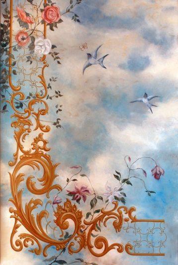 Plafond van der Kelen met wolkenlucht