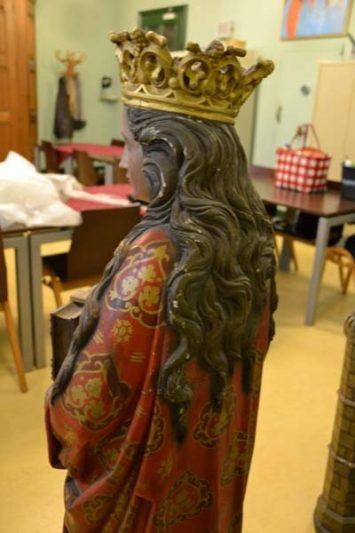 Barbarakerk restauratie beelden