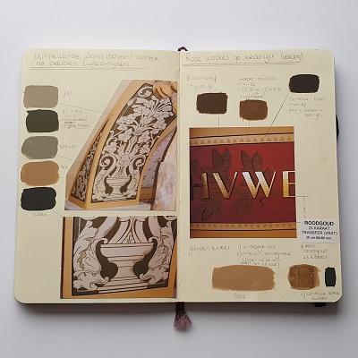 Bronnenboek Froukje van der Haven restauratie- en decoratieschilder Rijksmuseum Rembrandtzaal
