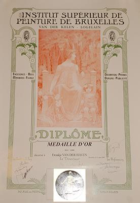 Diploma van der Kelen Medaille D'or