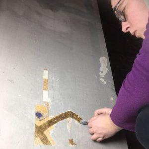 Froukje van der Haven Vrijleggen schilderwerk Laurentius- en Elisabethkathedraal Rotterdam